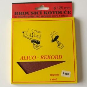 Диск VELCRO / комплект 5 броя /   ф 125 мм Р 120