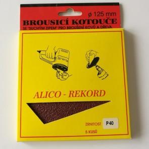Диск VELCRO / комплект 5 броя /   ф 125 мм Р 40