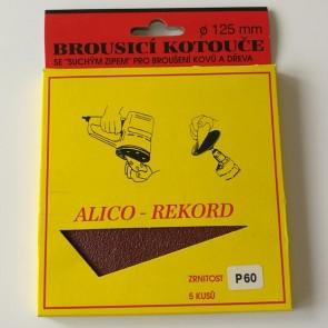 Диск VELCRO / комплект 5 броя /   ф 125 мм Р 60