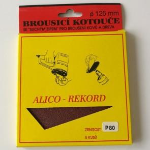 Диск VELCRO / комплект 5 броя /   ф 125 мм Р 80